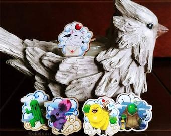 Final Fantasy Creature Wood Pins