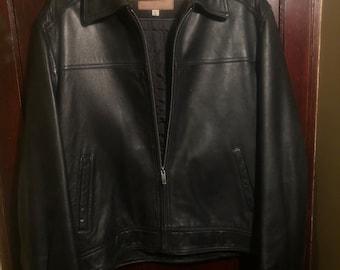 Men s retro Guess leather jacket 463ed08c7eeaa