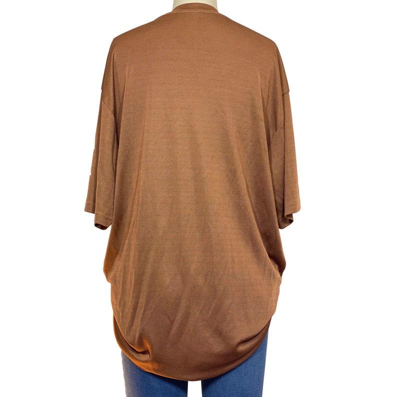 Retro silky mockneck tshirt US men\u2019s ribbed texture