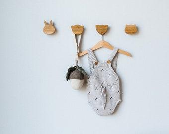 Decorative Wall Hooks - Small Wall Hooks - Wood Wall Hooks - Animal Wall Hook - Wood Wall Hooks - Wood Coat Hooks - Wall Hooks