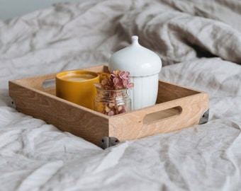 Coffee Table Tray - Wooden Serving Tray - Wooden Tray With Handles - Serving Tray With Handles - Wooden Bath Tray - Large Wooden Tray