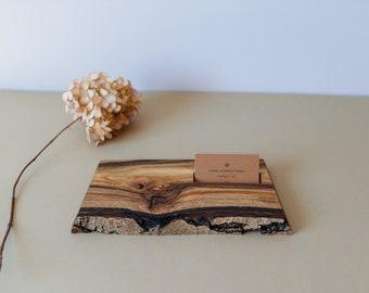 Wood Business Card Holder - Business Card Display - New Job Gift - Wooden Business Card Holder - Wood Business Card Stand - Work Desk Decor