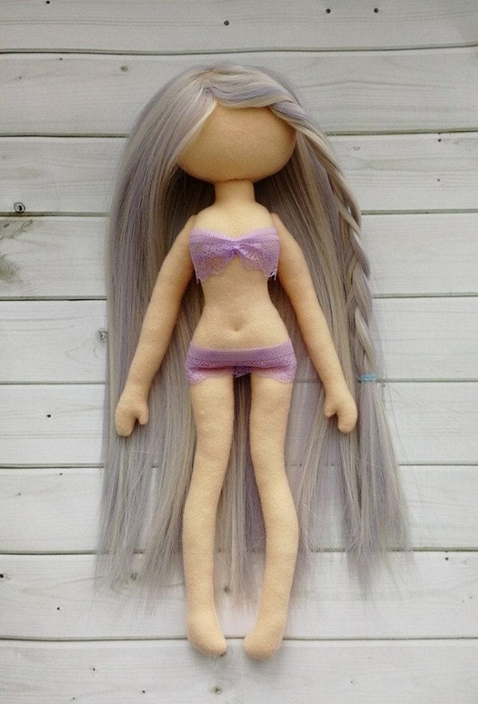 Blank doll with hair body 13 inch