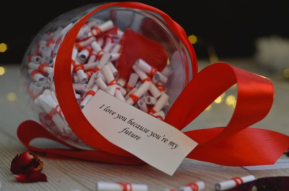 365 Reasons Why I Love You Valentines Day Jar For Couples Etsy