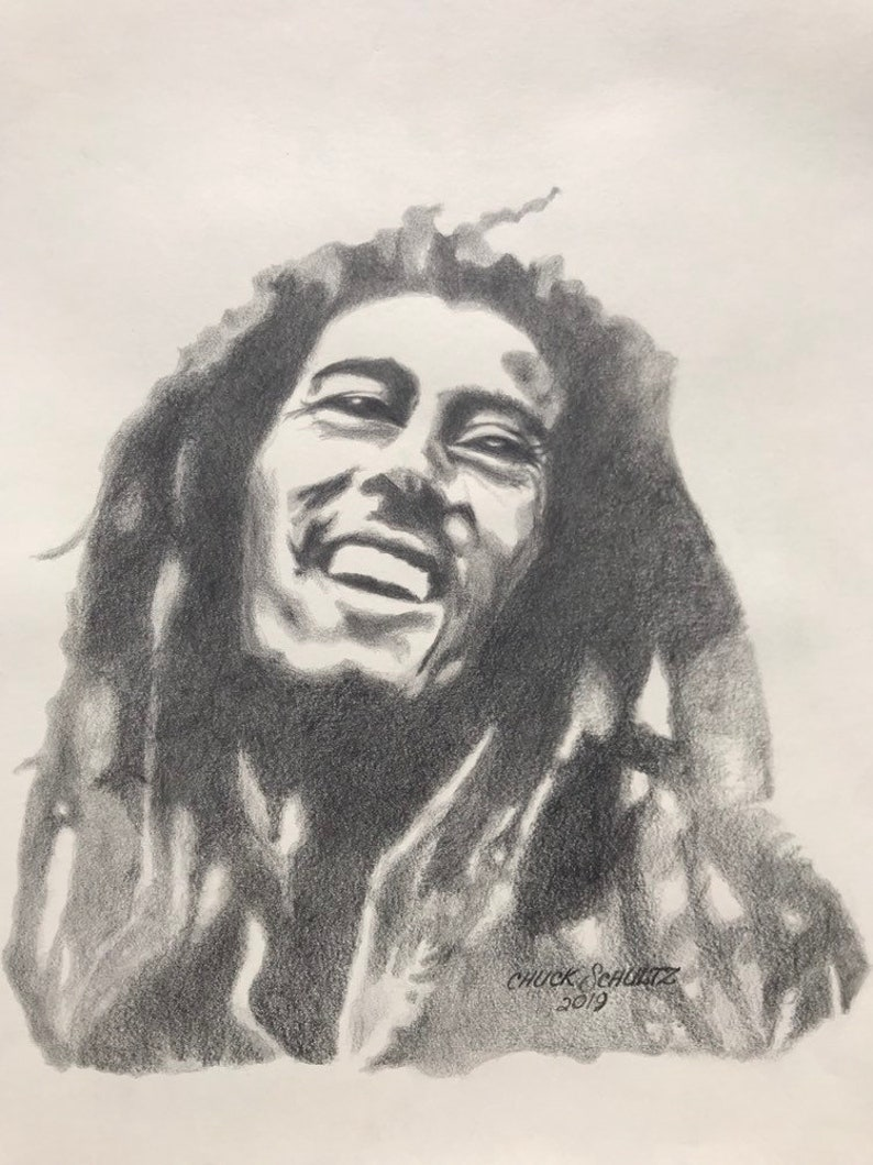 Bob marley art2 graphite pencil drawing roots reggae