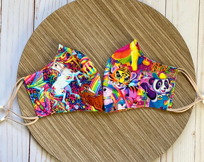 Featured listing image: 90's Girl Mask   SET OF TWO  Lisa Frank Inspired   Free Shipping!
