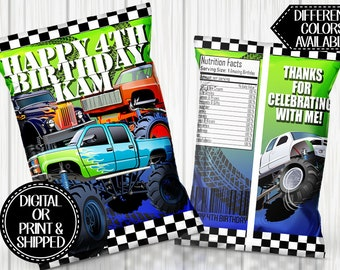 Monster Truck Party Etsy