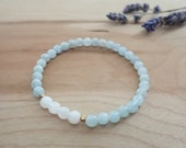 inner calm soul beads, aquamarine, moonstone, intuition, serenity, clarity, peace, inner flow, relaxation, sacral chakra, throat chakra