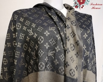 e6da11cdb962d Private Louis Vuitton Inspired Lv Logo Beautiful Soft Stylish Women Unisex  Unique Scarf