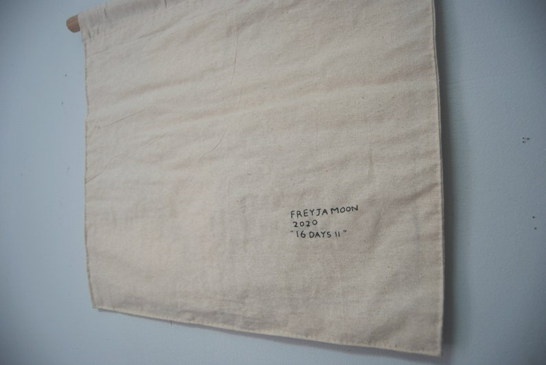 16 Days II Hand Embroidered Quilt Hanging