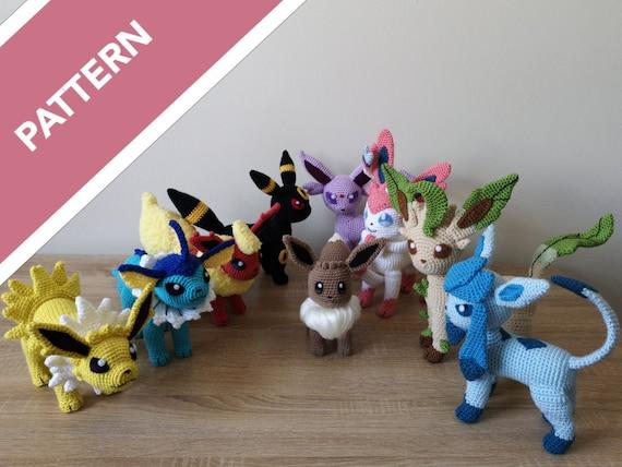 Leafeon + Eeveelutions | Pokemon crochet pattern, Kawaii crochet ... | 428x570
