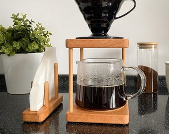 Pour Over Coffee Stand, V60 Stand, V60 Dripper Stand, Wooden Drip Stand