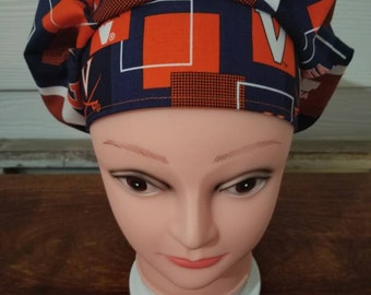 a8d80559bffca University of Virginia surgical scrub bouffant hat