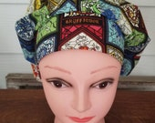 Harry Potter stained glass surgical scrub bouffant hat