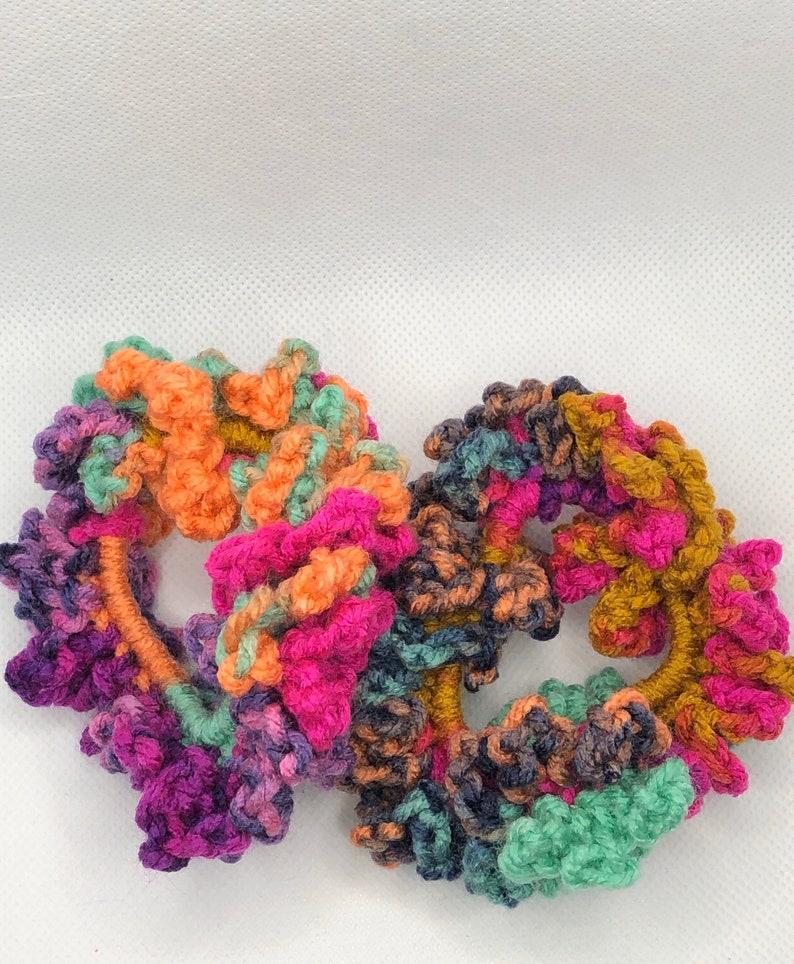 Gift For Friend Acrylic Hair Scrunchies Birthday Gift Woman Hair Accessories Crochet Elastic Hair Scrunchies Cactus Flower