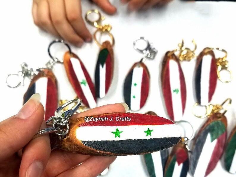 Syrian wooden keychainSyriawoodcustomized keychainArabMiddle EastcustomizedgiftsArab flagsflags
