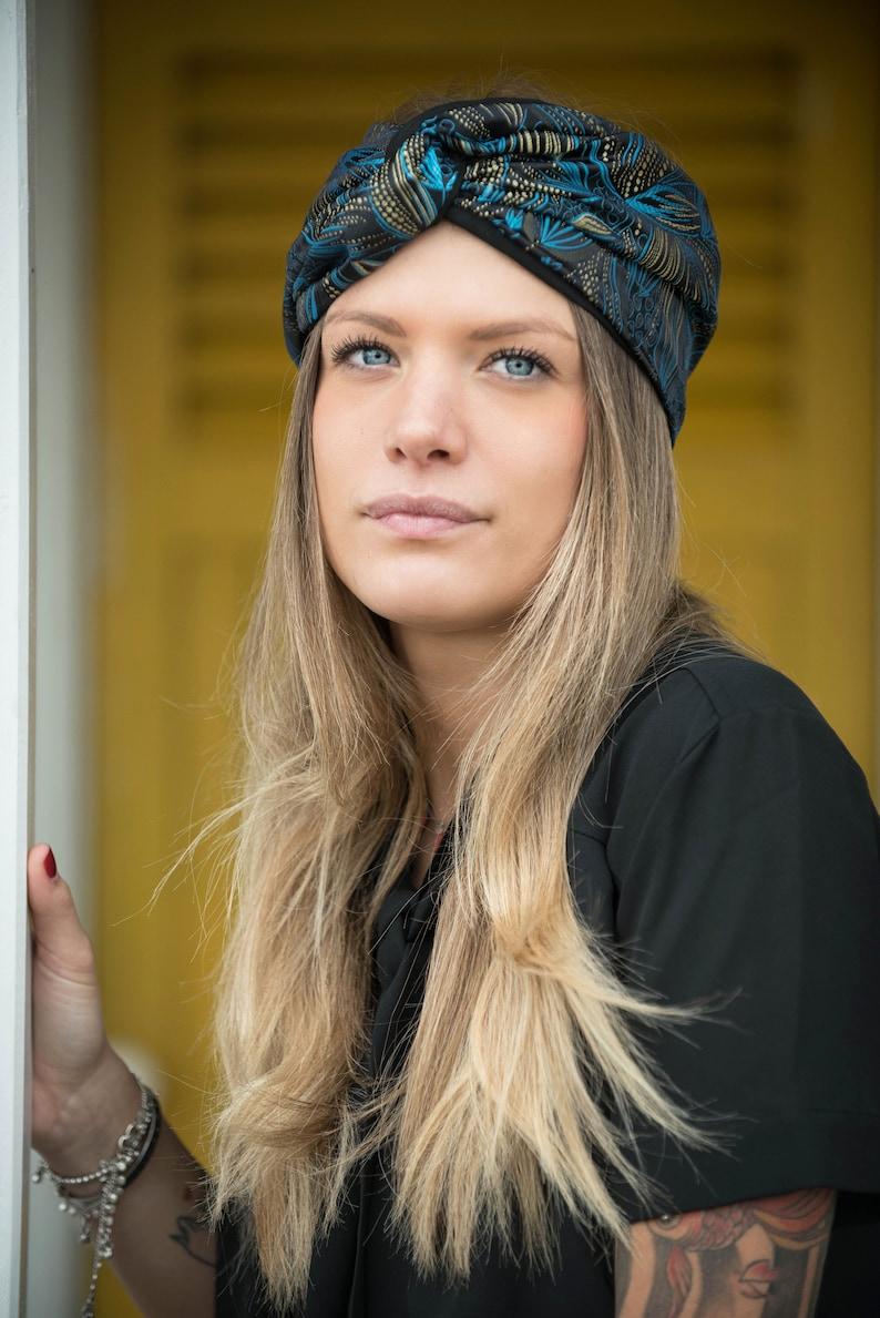 Fascia per capelli in tessuto jacquard headband larga | Etsy