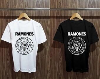 63d34986 Ramones Logo Natural T Shirt, Ramones Shirt Best Seller Size Unisex Adult