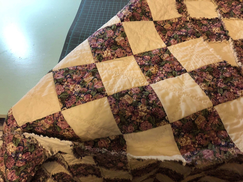 Lap Quilt-Handmade-Rag Quilt