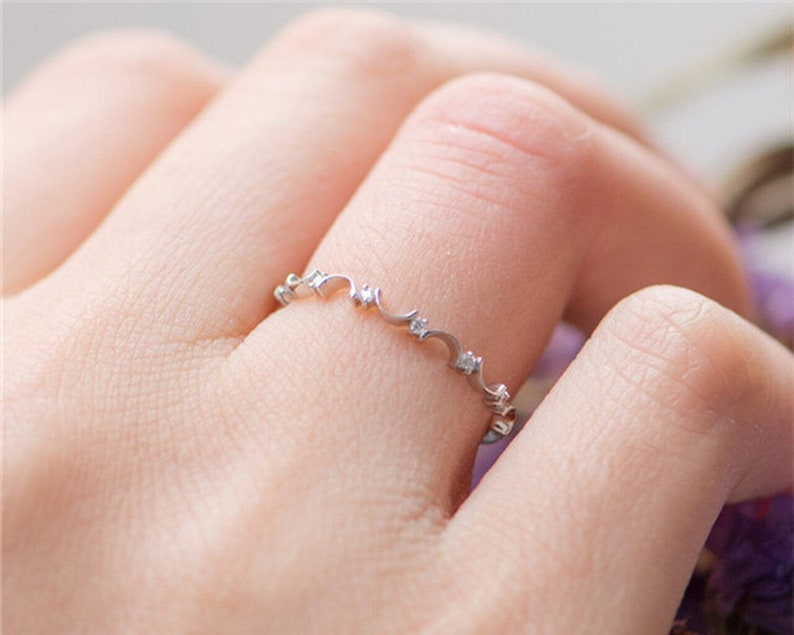 Anniversary Rings Solid 14k Gold Wedding Band,Diamond Engagement Ring Wedding Rings