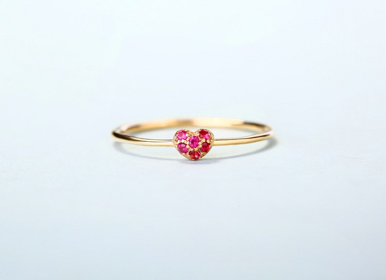 14k gold ring Solid 14k gold round cut  natural ruby ring ruby ring gemstone ring