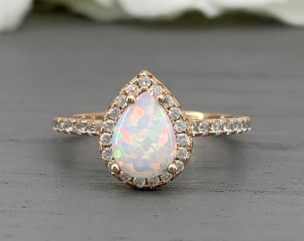 a71aaec435f4a Pear promise ring   Etsy