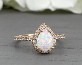 e4136861d6b3e Opal pear ring   Etsy