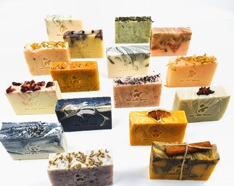 UK Handmade vegan soap bar, 100% natural, cold process, palm oil free, BEE Zero Waste, plastic free, zero waste gift, 125 grams soaps.