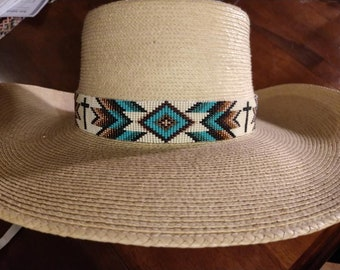56cb24f2b8c Custom Beaded Hat Band
