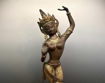 Mayadevi Figur Bronze (40,5cm) Mutter Siddharta Buddha Stehend AsienLifestyle
