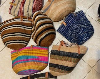 Sisal basket, Kiondo handbag ,Wholesale Beach bag ,9 Kiondo handbag,  shoulder handbag, 9 pieces of kiondo