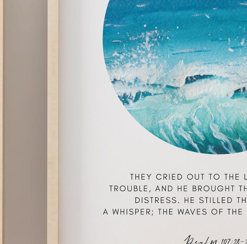 Psalm 93:4 Mightier Bible Verse Print 8x10 Isaiah 43 Bible Verse Digital Print 11x14 16x20 Scripture Wall Art A3 Printable Wall Art