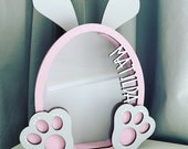 Money Box Gift bunny present nursery baby gift christening gift personalised