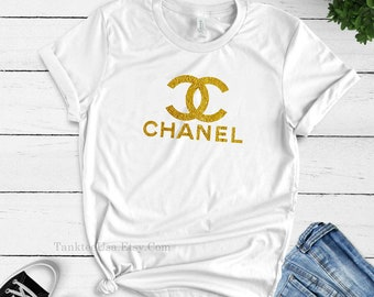 f03905a16 Unisex Coco Chanel Womens tshirt, Gold Chanel Shirt, Inspired Coco Chanel  Sweatshirt, Coco Chanel tank top women kids Coco Chanel tee