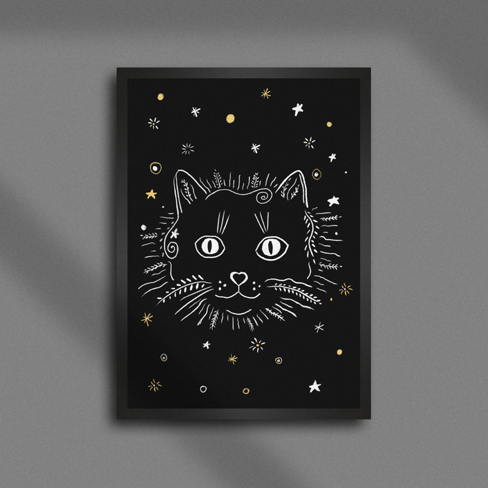 Magic Black Cat Poster