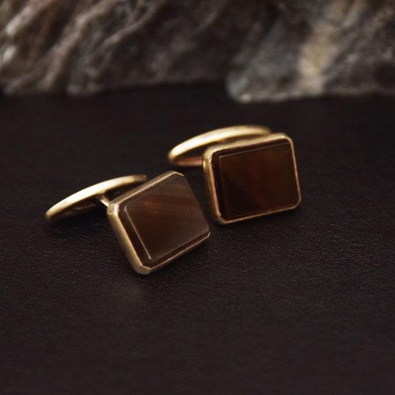 Natural Stone Vintage Cufflinks