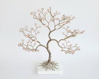 Bohemian Crystal Tree of Life, Birthday Gift, 15th Anniversary, Desk Decor