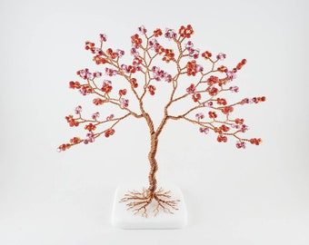 Beaded Wire Tree of Life, Bedroom Decor, Birthday Gift for Girlfriend