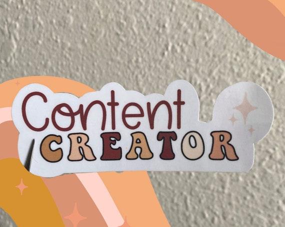 Content Creator Sticker // Creator Sticker // Influencer Sticker