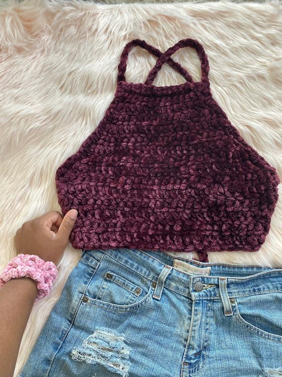 Crochet Velvet Top // Date Night