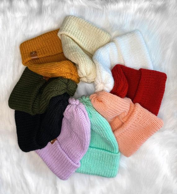 Knit Beanie // Multiple Color Hats