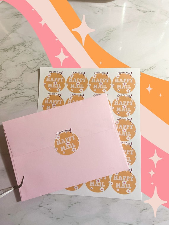 Happy Mail Stickers // Packaging Stickers // Thank You Small Business Sticker Sheets // Shipping Stickers