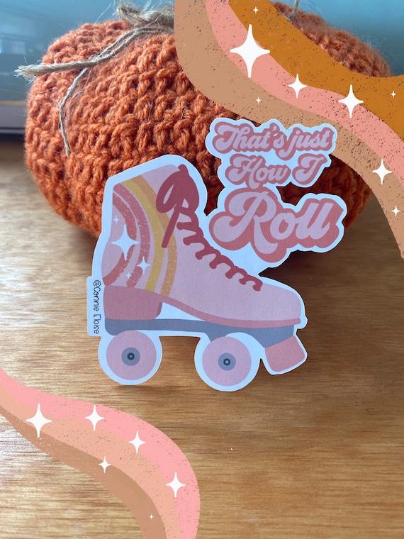 Roller Skate Sticker // 70s Inspired Sticker // Laptop Sticker // Retro Sticker