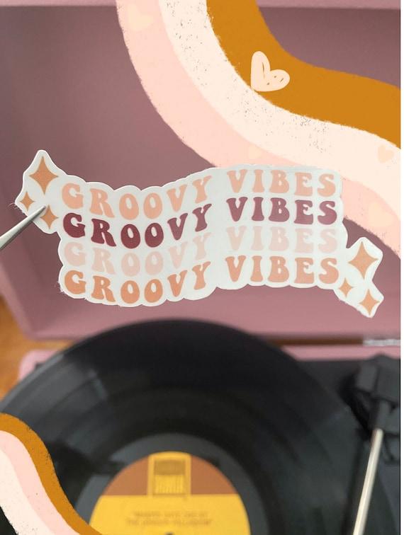 Groovy Vibes Sticker // Groovy Sticker // Die-Cut Sticker