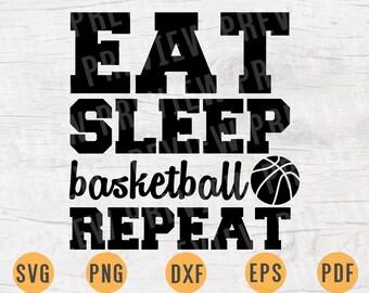 Eat sleep basketball   Etsy