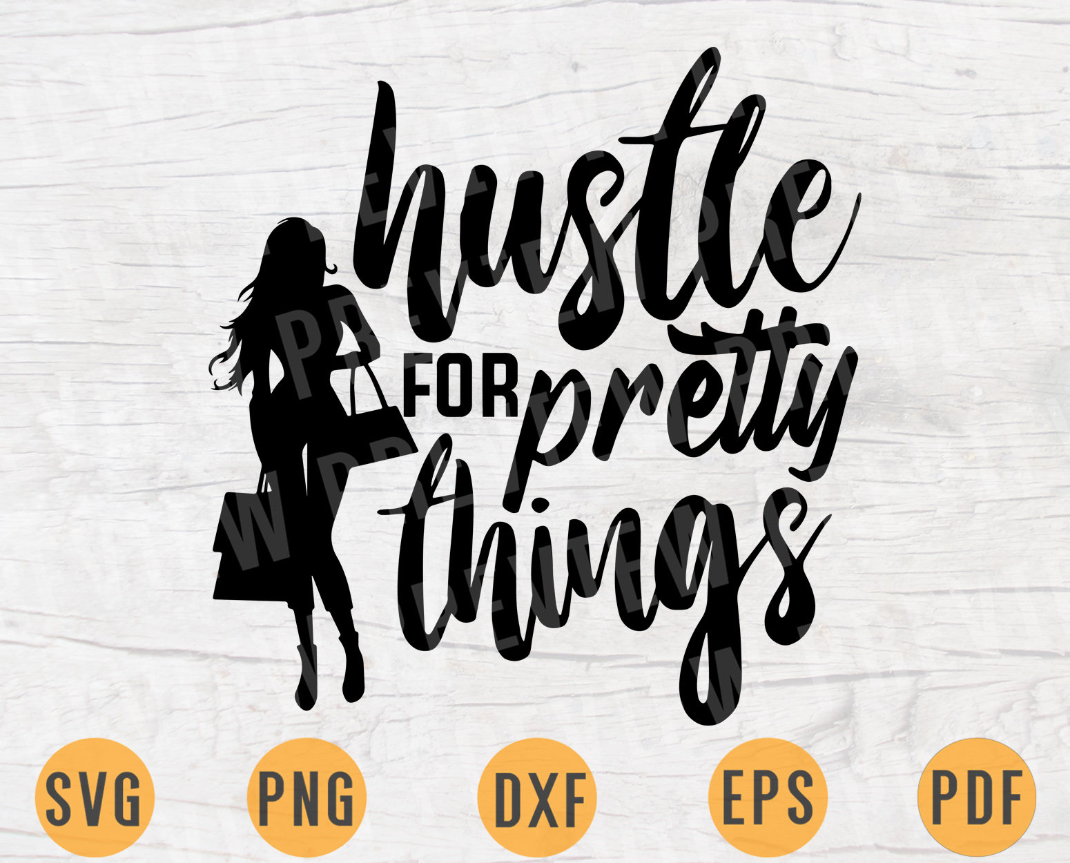 Hustle For Pretty Things Quote Svg Cricut Cut Files Instant Etsy