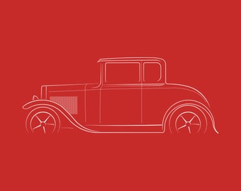 fa85a596 Ford Model A - profile stencil, white T-Shirt Great Gift t-shirt