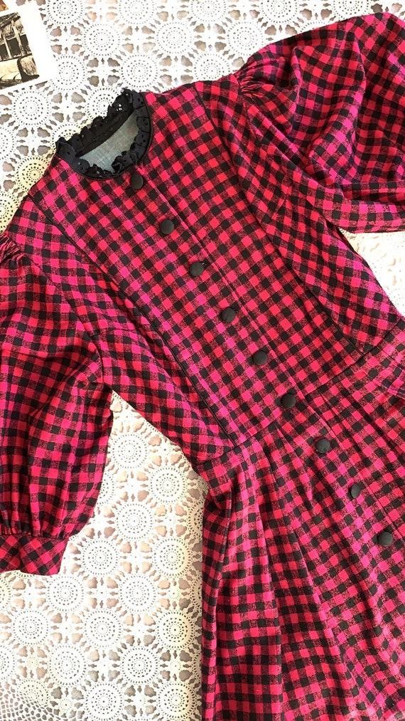 Vintage Cottagecore Dress | Cottagecore Tartan Dre