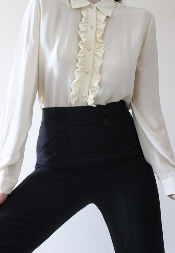 Vintage LAURA ASHLEY Ruffle Blouse | 1980s Laura A