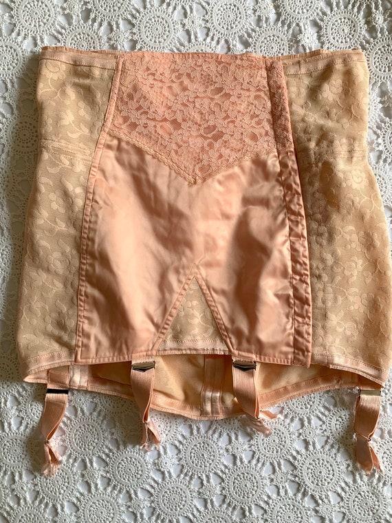 RARE 1940s Vintage Corset Girdle Skirt with Garter